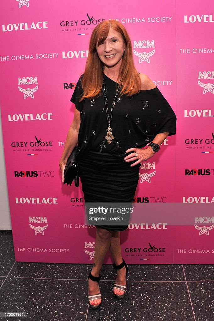Designer Nicole Miller attends The Cinema Society and MCM with Grey Goose screening of Radius TWC's 'Lovelace' at MoMA on July 30, 2013 in New York City.