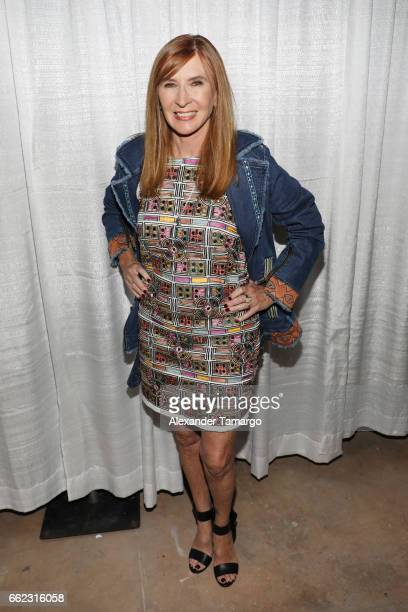 Designer Nicole Miller attends The Nicole Miller 2017 Spring Collection At The Underground Lauderdale Fashion Weekend Brought To You By The Greater...