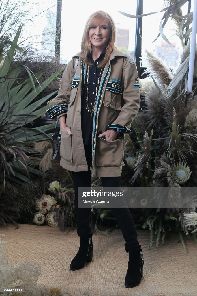 Designer Nicole Miller poses for the Nicole Miller fashion show during New York Fashion Week: The Shows at Gramercy Terrace at The Gramercy Park Hotel on September 8, 2017 in New York City.
