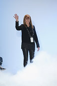 Designer Nicole Miller walks the runway wearing Nicole Miller Fall 2016 during New York Fashion Week The Shows at The Gallery Skylight at Clarkson Sq...