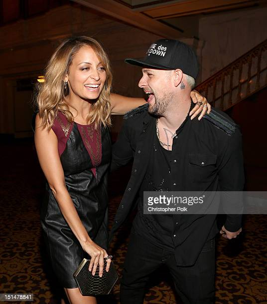 Designer Nicole Richie and musician Joel Madden attend Macy's Passport Presents Glamorama 30th Anniversary in Los Angeles held at The Orpheum Theatre...