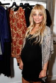 Designer Nicole Richie attends A Pea in the Pod launch party for the Nicole Richie maternity collection held at A Pea In The Pod on August 6 2009 in...