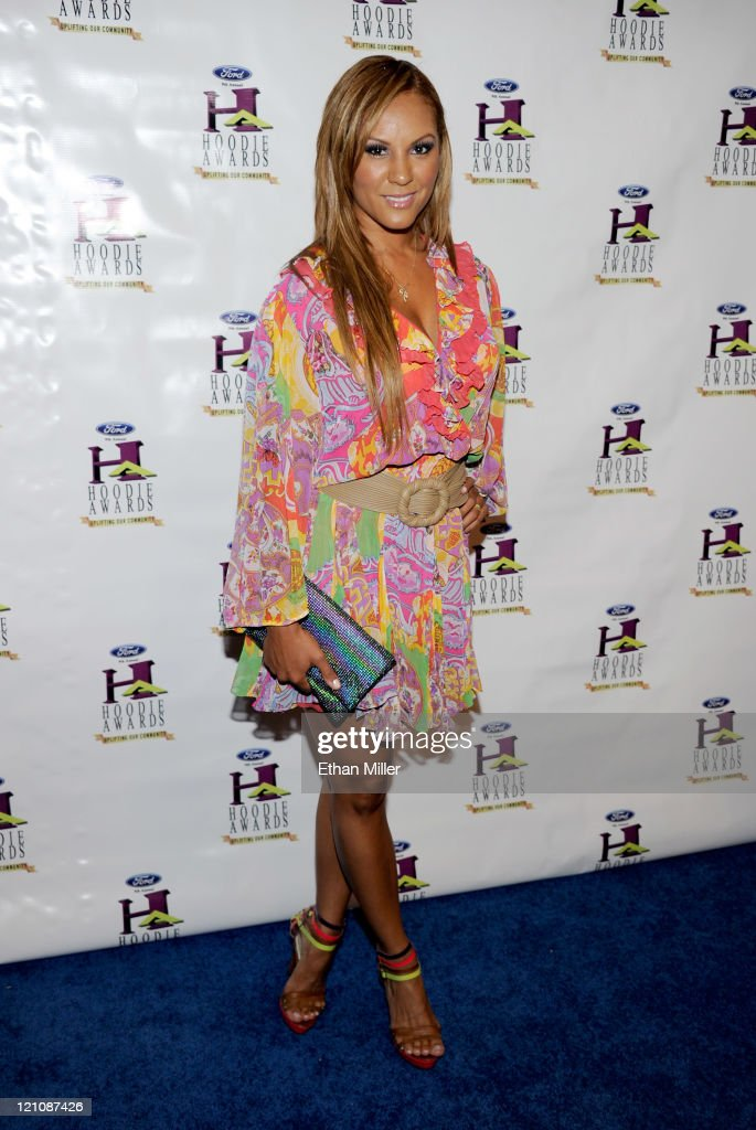 Designer Nikki Chu arrives at the ninth annual Ford Hoodie Awards at the Mandalay Bay Events Center August 13, 2011 in Las Vegas, Nevada.