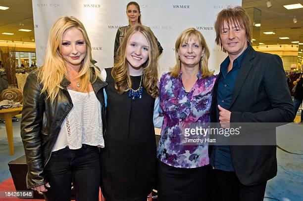 Designer Nikki Lund Starlight Foundation representatives Emily Muller and Joan Steltmann and Richie Sambora attend the Nikki Rich Launch With...