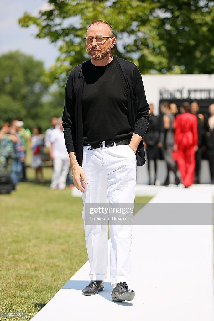 Designer Nino Lettieri attends the Nino Lettieri Couture fashion show as part of AltaRoma AltaModa Fashion Week Autumn/Winter 2013 on July 6, 2013 in Rome, Italy.