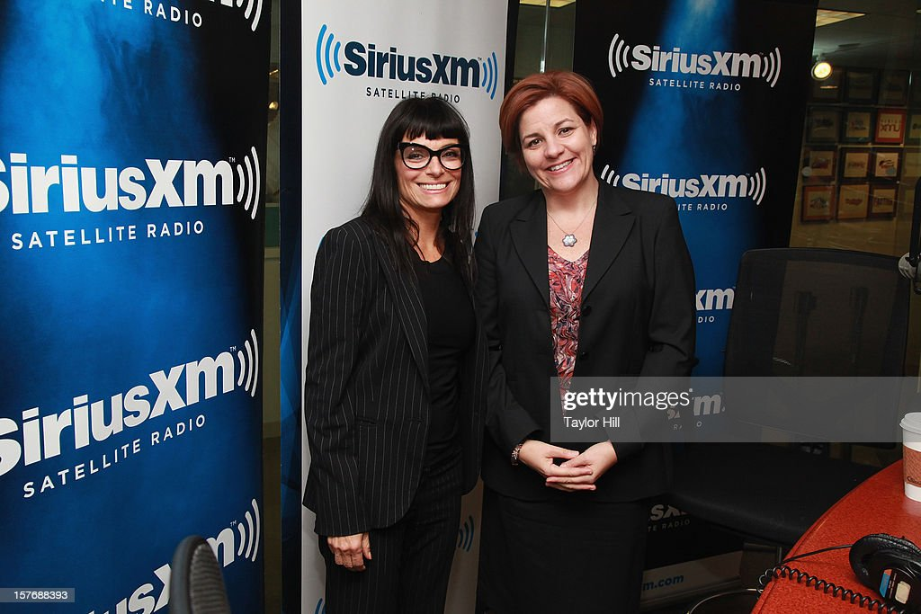Designer Norma Kamali interviews New York City Council Speaker Christine Quinn (R) on her SiriusXM special 'Normal Kamali Presents: Hey Baby' on August 21, 2012 at the SiriusXM Studios in New York City. The special aired on December 5, 2012.