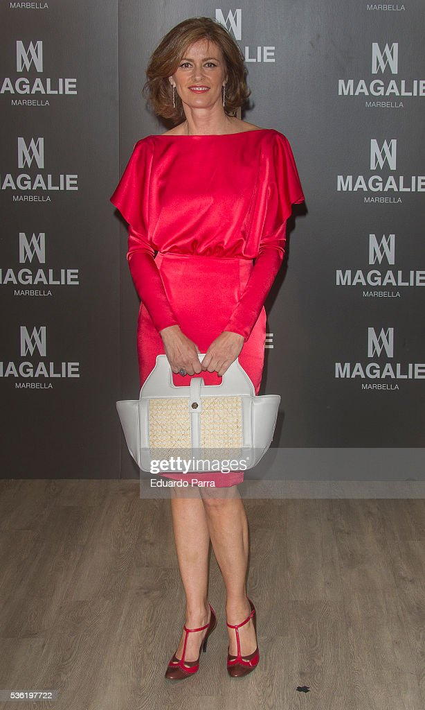 Designer <a gi-track='captionPersonalityLinkClicked' href=/galleries/search?phrase=Nuria+March&family=editorial&specificpeople=622326 ng-click='$event.stopPropagation()'>Nuria March</a> attends the ''Magalie 121' Bag presentation at Las Alhajas palace on May 31, 2016 in Madrid, Spain.