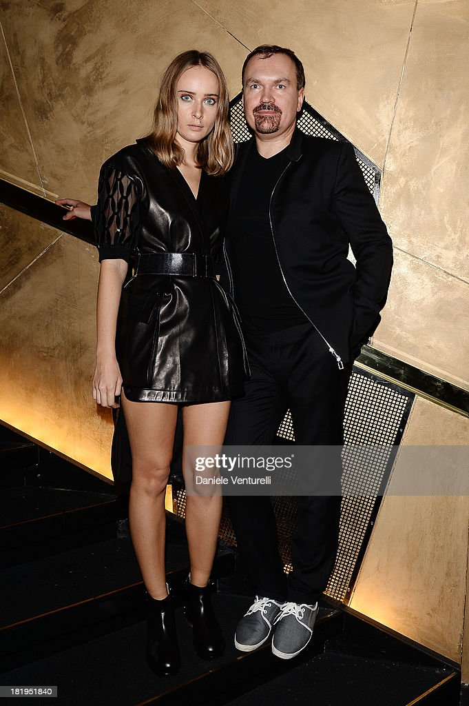 Designer <a gi-track='captionPersonalityLinkClicked' href=/galleries/search?phrase=Olga+Sorokina&family=editorial&specificpeople=8201470 ng-click='$event.stopPropagation()'>Olga Sorokina</a> and Andrey Sturkov attend IRFE After Party as part of the Paris Fashion Week Womenswear Spring/Summer 2014 on September 26, 2013 in Paris, France.