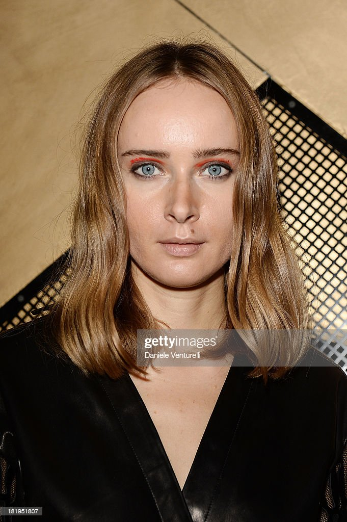 Designer <a gi-track='captionPersonalityLinkClicked' href=/galleries/search?phrase=Olga+Sorokina&family=editorial&specificpeople=8201470 ng-click='$event.stopPropagation()'>Olga Sorokina</a> attends IRFE After Party as part of the Paris Fashion Week Womenswear Spring/Summer 2014 on September 26, 2013 in Paris, France.