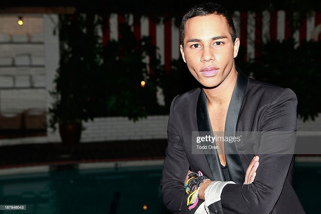Designer Olivier Rousteing attends the Balmain LA Dinner at Chateau Marmont on May 2, 2013 in Los Angeles, California.