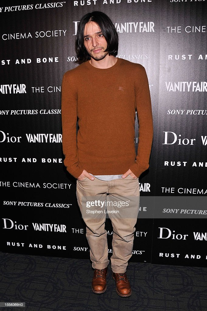 Designer Olivier Theyskens attends The Cinema Society with Dior & Vanity Fair screening of 'Rust and Bone' at Landmark's Sunshine Cinema on November 8, 2012 in New York City.