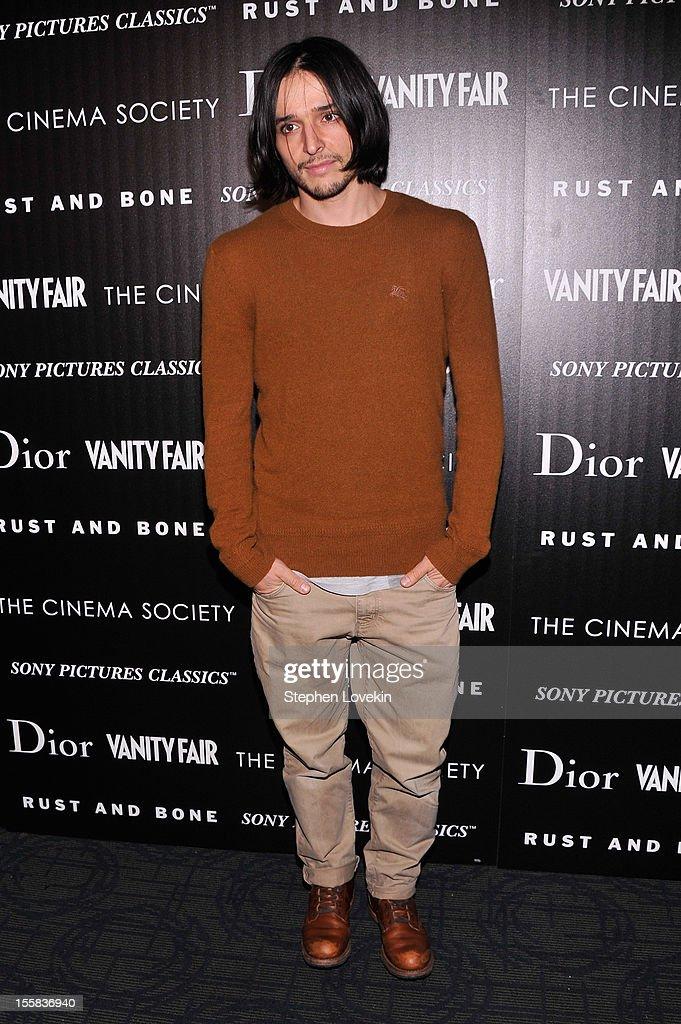 Designer Olivier Theyskens attends The Cinema Society with Dior & Vanity Fair screening of 'Rust and Bone' at Landmark's Sunshine Cinema on November 8, 2012 in New York City.