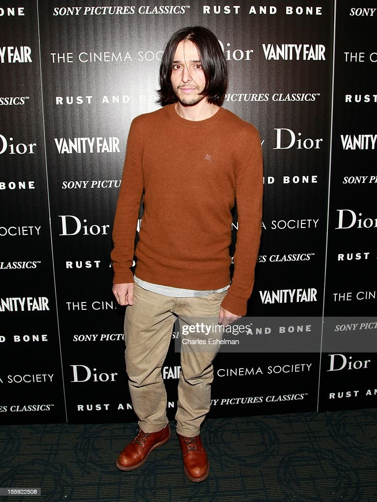Designer Olivier Theyskens attends The Cinema Society with Dior & Vanity Fair host a screening of 'Rust and Bone' at Landmark Sunshine Cinema on November 8, 2012 in New York City.