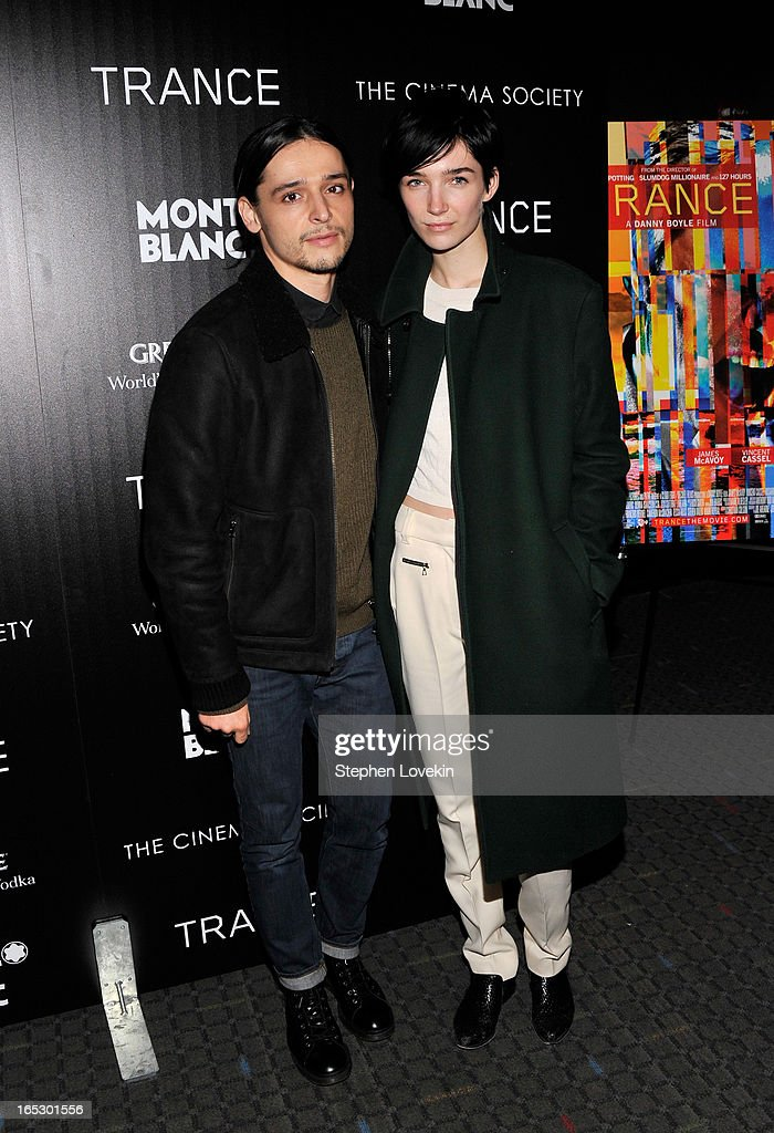 Designer Olivier Theyskens (L) attends the premiere of Fox Searchlight Pictures' 'Trance' hosted by The Cinema Society & Montblanc at SVA Theater on April 2, 2013 in New York City.
