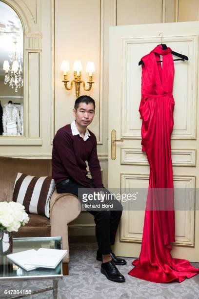 Designer OngOaj Pairam poses for a portrait during the OngOaj Pairam presentation at Hotel Meurice as part of the Paris Fashion Week Womenswear...