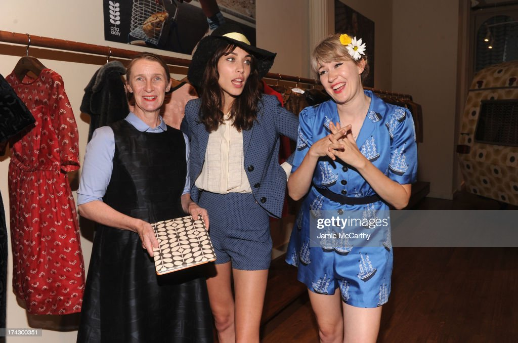 Designer Orla Kiely, <a gi-track='captionPersonalityLinkClicked' href=/galleries/search?phrase=Alexa+Chung&family=editorial&specificpeople=3141821 ng-click='$event.stopPropagation()'>Alexa Chung</a>, and <a gi-track='captionPersonalityLinkClicked' href=/galleries/search?phrase=Tennessee+Thomas&family=editorial&specificpeople=2124284 ng-click='$event.stopPropagation()'>Tennessee Thomas</a> attend the Orla Kiely for Target Preview Party on July 23, 2013 in New York City.