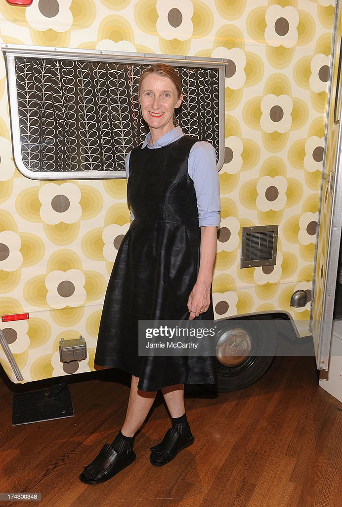 Designer <a gi-track='captionPersonalityLinkClicked' href=/galleries/search?phrase=Orla+Kiely+-+Fashion+Designer&family=editorial&specificpeople=15055194 ng-click='$event.stopPropagation()'>Orla Kiely</a> attends the <a gi-track='captionPersonalityLinkClicked' href=/galleries/search?phrase=Orla+Kiely+-+Fashion+Designer&family=editorial&specificpeople=15055194 ng-click='$event.stopPropagation()'>Orla Kiely</a> for Target Preview Party on July 23, 2013 in New York City.