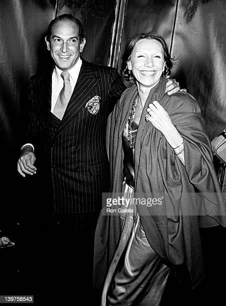 Designer Oscar de la Renta and date attend First Anniversary Party for Studio 54 on April 26 1978 at Studio 54 in New York City