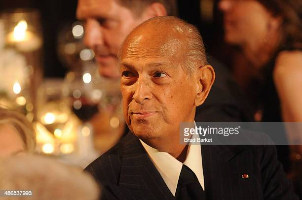Designer Oscar de la Renta attends the 2014 Carnegie Hall Medal Of Excellence Gala Honoring Oscar De La Renta at The Plaza Hotel on April 24 2014 in...