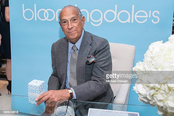 Designer Oscar de la Renta attends the Launch of his new fragrance 'Something Blue' at Bloomingdale's 59th Street on April 18 2013 in New York City