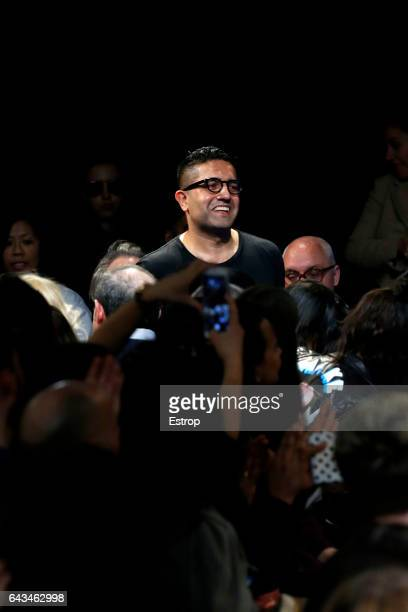 Designer Osman Yousefzada walks the runway at the OSMAN show during the London Fashion Week February 2017 collections on February 20 2017 in London...