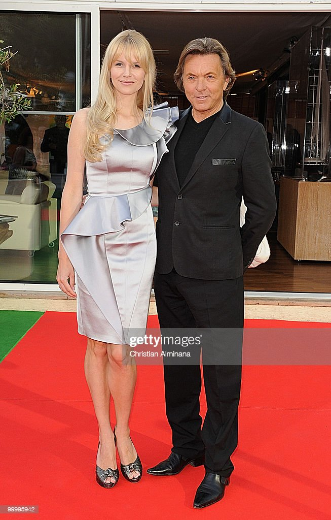 Designer Otto Kern (R) and wife Naomie Karla Otto attend Graffiti Au Yacht Club De Monaco, paint exhibition, on May 19, 2010 in Monaco, Monaco.