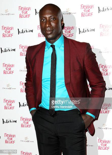 Designer Ozwald Boateng attends an olympic celebration dinner hosted by Naomi Campbell in partnership with Fashion For Relief at LondonÕs Downtown...