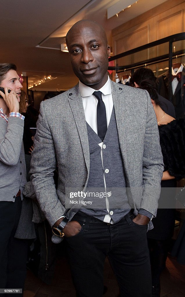 Designer <a gi-track='captionPersonalityLinkClicked' href=/galleries/search?phrase=Ozwald+Boateng+-+Fashion+Designer&family=editorial&specificpeople=580735 ng-click='$event.stopPropagation()'>Ozwald Boateng</a> attends the Lanvin Party to celebrate the release of Mika's EP 'Songs Of Sorrow' on November 11, 2009 in London, England.