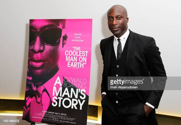 Designer Ozwald Boateng attends the premiere of 'A Man's Story' at WME Screening Room on November 1 2012 in Los Angeles California