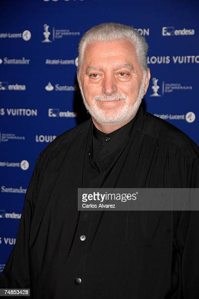 Designer Paco Rabanne attends Americas Cup Match 'Black The Party' on June 21 2007 at 'Antigua Tabacalera' in Valencia Spain