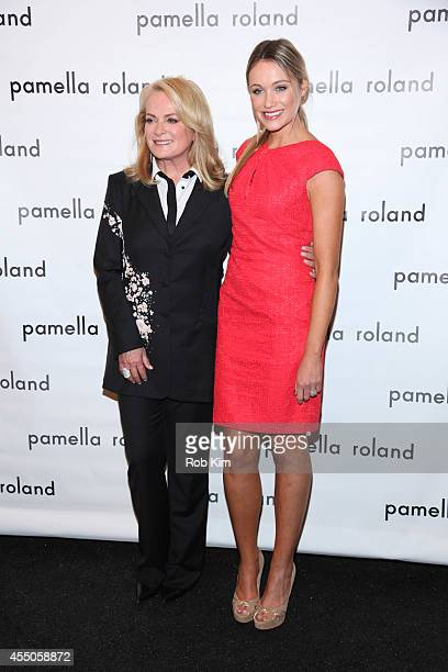 Designer Pamella Roland and actress Katrina Bowden attend Pamella Roland during MercedesBenz Fashion Week Spring 2015 at The Salon at Lincoln Center...