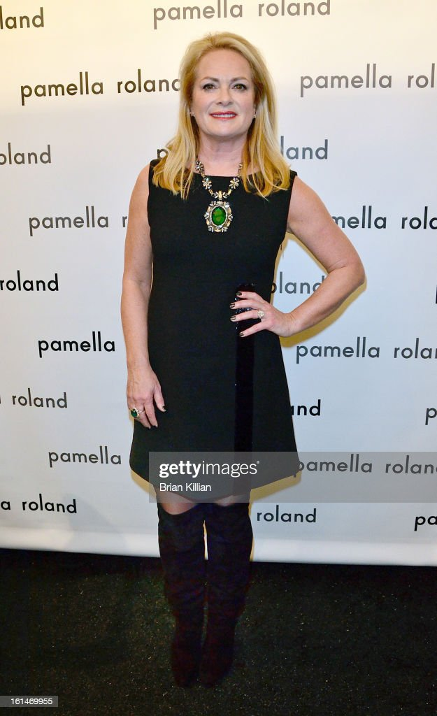 Designer Pamella Roland attends Pamella Roland during Fall 2013 Mercedes-Benz Fashion Week at The Studio at Lincoln Center on February 11, 2013 in New York City.