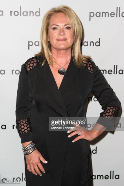 Designer Pamella Roland attends the Pamella Roland show during Spring 2014 MercedesBenz Fashion Week at The Studio at Lincoln Center on September 9...
