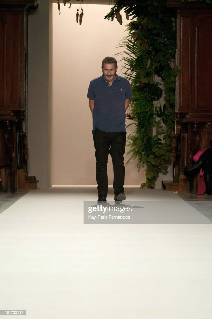 Designer Pascal Millet at the Pascal Millet show as part of the Paris Fashion Week Womenswear Spring/Summer 2014 on September 24, 2013 in Paris, France.