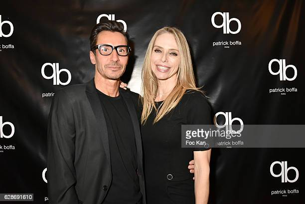 Designer Patrick Boffa and Tonya Kinzinger attend Patrick Boffa 2017 Collection Fashion Show at Plaza Athenee on December 8 2016 in Paris France