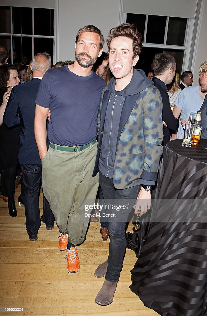 Designer Patrick Grant (L) and <a gi-track='captionPersonalityLinkClicked' href=/galleries/search?phrase=Nick+Grimshaw&family=editorial&specificpeople=4666727 ng-click='$event.stopPropagation()'>Nick Grimshaw</a> attend the Esquire Summer Party in association with Stella Artois at Somerset House on May 29, 2013 in London, England.