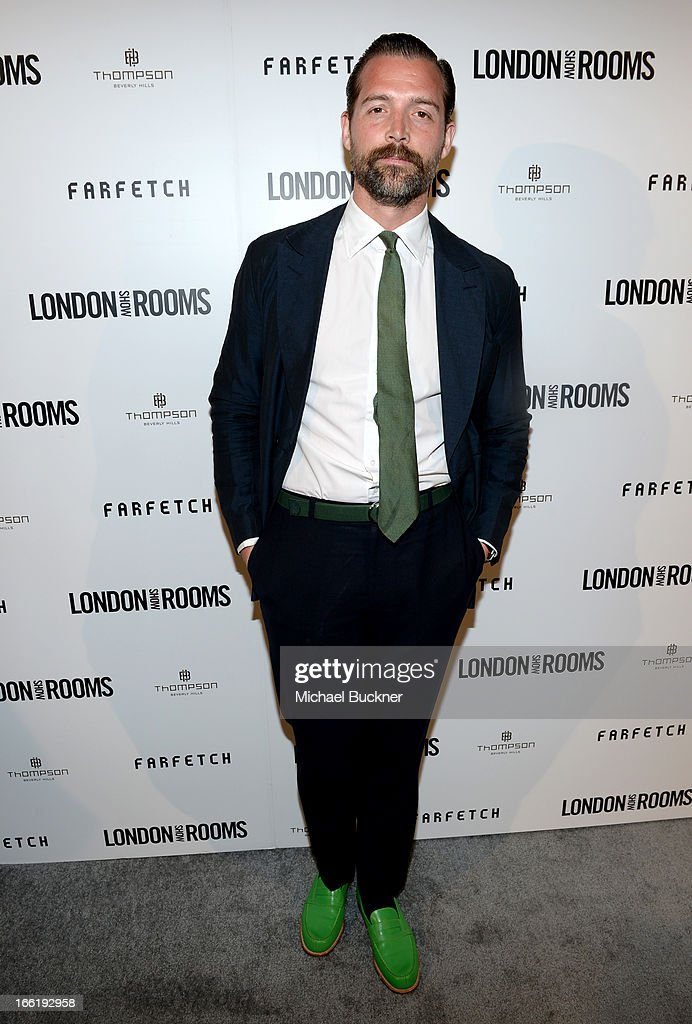 Designer Patrick Grant attends the British Fashion Council LONDON Show ROOMS LA AW13 Opening Party at Thompson Hotel on April 9, 2013 in Beverly Hills, California.