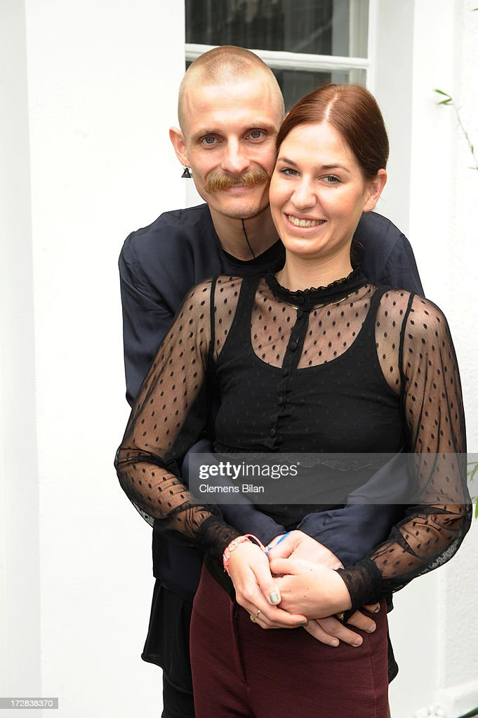Designer Patrick Mohr and Fabienne Beausencourt attend the Gala Fashion Brunch at Ellington Hotel on July 5, 2013 in Berlin, Germany.