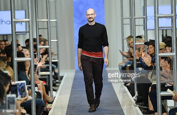 Designer Paul Hardy presents his RTW Spring 2017 collection during FashionCAN at Yorkdale Shopping Centre on October 16 2016 in Toronto Canada
