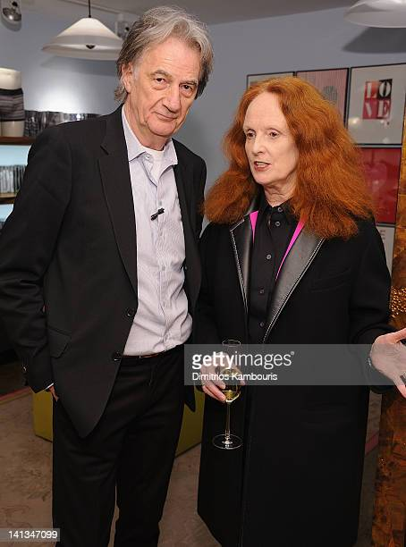 Designer Paul Smith and Grace Coddington attend the Paul Smith New York 25th Anniversary celebration on March 14 2012 in New York City