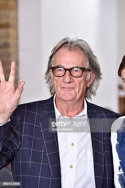 Designer Paul Smith walks the runway at the Paul Smith show during London Fashion Week Spring/Summer 2016 on September 20 2015 in London England