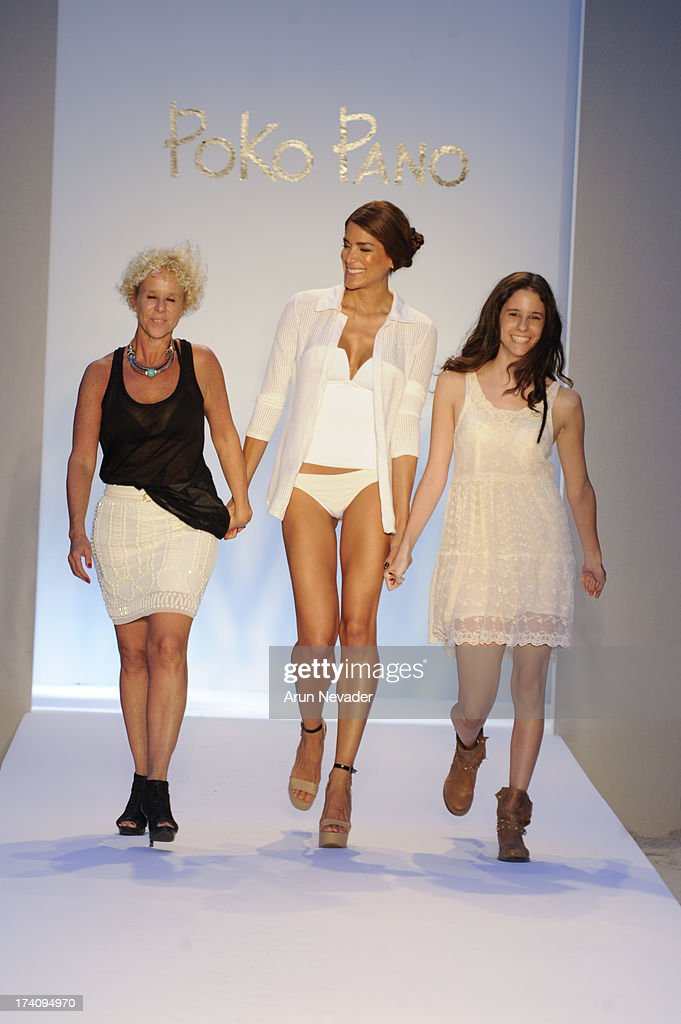 Designer Paula Robba walks the runway during Poko Pano finale By Poala Robba At Mercedes-Benz Fashion Week Swim 2014 - Runway at The Raleigh Hotel on July 19, 2013 in Miami, Florida.