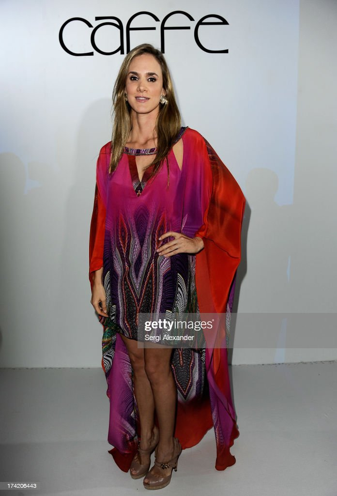 Designer Paula Saavedra attends the Caffe Swimwear show during MercedesBenz Fashion Week Swim 2014 at Oasis at the Raleigh on July 21 2013 in Miami...