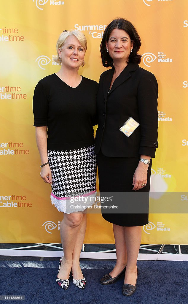 Designer Peach Carr and President of Time Warner Cable Media, Joan Gillman attend the Time Warner Cable Media Upfront Event 'Summertime Is Cable Time' on May 12, 2011 in Dallas, Texas.