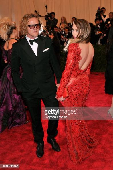 Designer Peter Dundas and Amber Heard attends the Costume Institute Gala for the 'PUNK Chaos to Couture' exhibition at the Metropolitan Museum of Art...