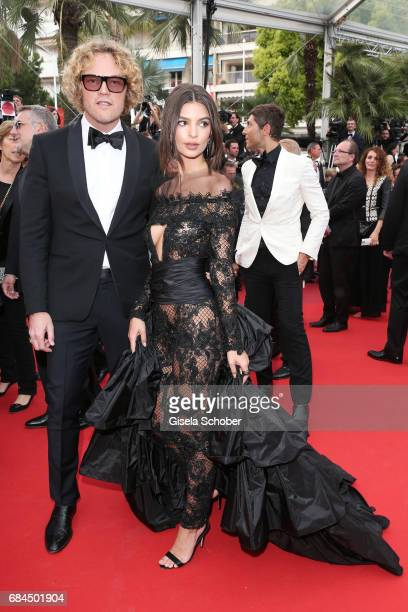 Designer Peter Dundas and Model Emily Ratajkowski attend the 'Loveless ' screening during the 70th annual Cannes Film Festival at Palais des...