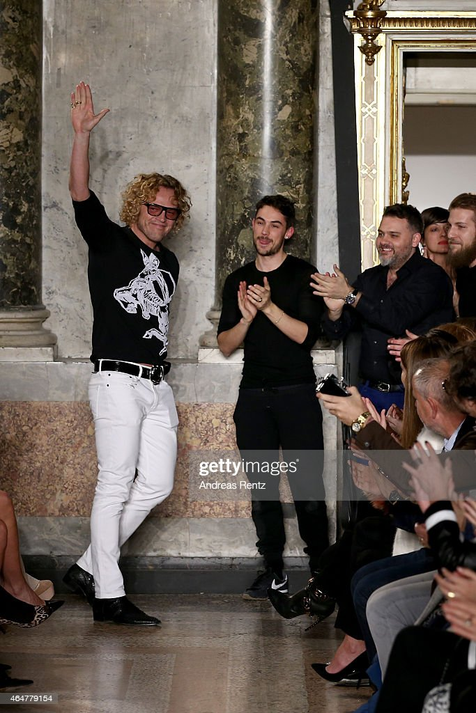 Designer Peter Dundas walks the runway at the Emilio Pucci show during the Milan Fashion Week Autumn/Winter 2015 on February 28 2015 in Milan Italy