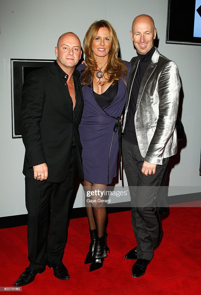 Designer Peter Morissey TV Presenter Charlotte Dawson and Simon Lock arrive at the Fashion Targets Breast Cancer with Alex Perry and IMG Fashion gala...
