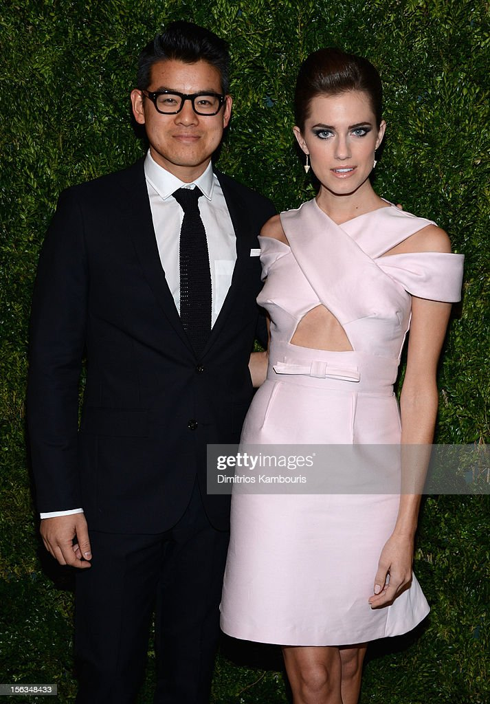 Designer Peter Som and Allison Williams attends The Ninth Annual CFDA/Vogue Fashion Fund Awards at 548 West 22nd Street on November 13, 2012 in New York City.