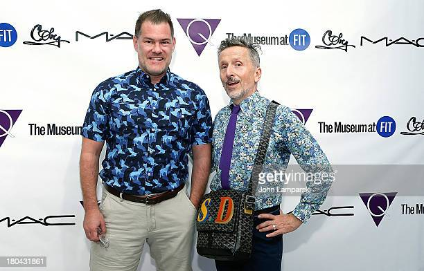 Designer Peter Som and Simon Doonan attend the forA Queer History of Fashion From the Closet to the Catwalk exhibition opening at The Museum at FIT...
